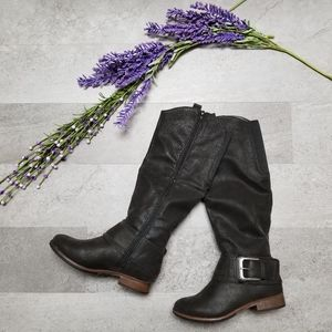 Black western buckle boots NEW